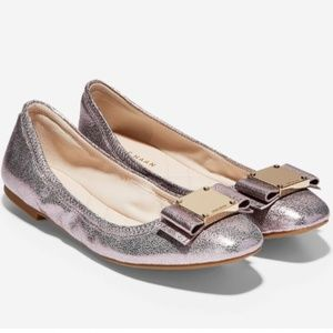 Cole Haan Tali Ballet Flats Metallic Pink 9B NWB